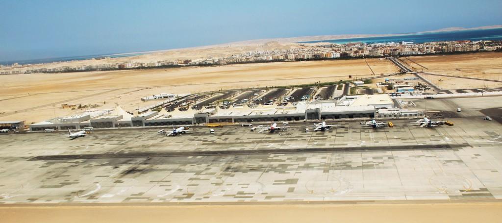 Luftaufnahme Flughafen Hurghada