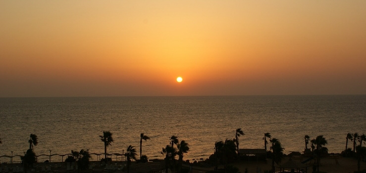Sonnenuntergang am Strand bei Hurghada - Sonnenuntergangstour